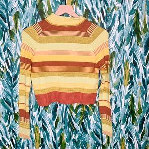 Free People Tops - Free people Riptide retro Stripe Crop pullover